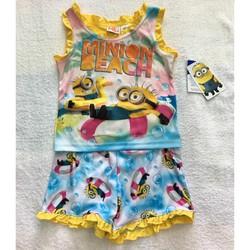 Bộ quần đùi bé gái MINION xinh xắn BG023 hàng Mỹ chính hãng xách tay