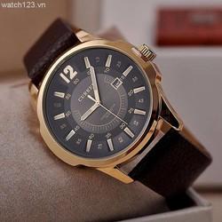 Đồng hồ nam dây da Curren CR01