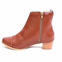 Giày boot nữ cổ cao 3 phân - Nâu