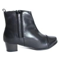 Giày Boot Nữ Cổ Cao 3 Phân - Đen