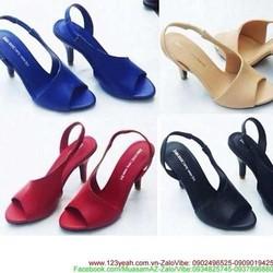 Giày cao gót hở mũi thiết kế hở 1 bên sành điệu sang trọng GCG126