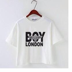 croptop boy london trắng