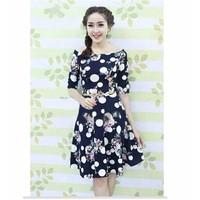 [Bé yêu shop] - Sinh nhật Sendo Đầm Xòe Hoa Bi Vintage - BY1041