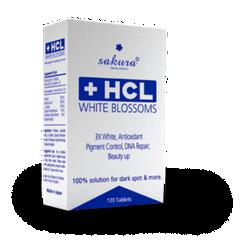 Viên uống dưỡng trắng da Sakura HCL White Blossom-120 viên