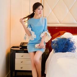 Đầm Tay Lở Phối Ren quyến rũ
