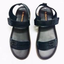 Dép sandal da bò cao cấp nam đen lịch lãm