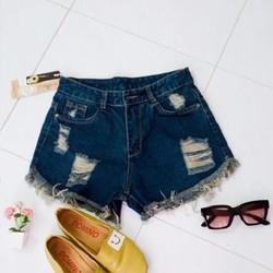 Quần short jeans rách thời trang