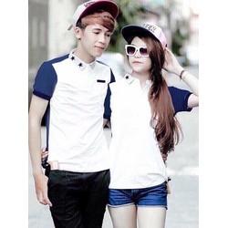 HÀNG LOẠI I - Sét áo cặp nam nữ phối màu