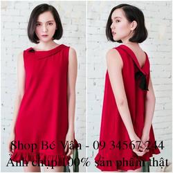 XẢ HÀNG SALE LỖ - Đầm suông Nơ Sau Lưng Siêu Đẹp - hàng thiết kế