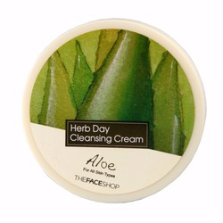 Kem Tẩy Trang Nha Đam The Face Shop Herb Day Cleansing Cream Aloe