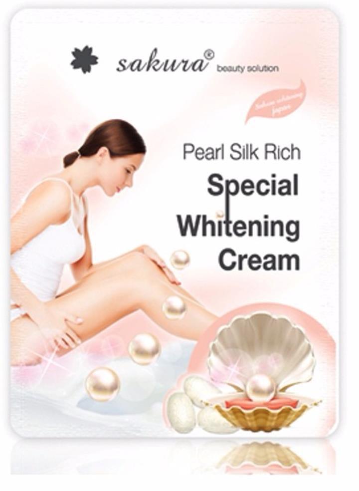 Kem tắm trắng SAKURA PEARL SILK RICH SPECIAL 1