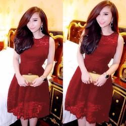 Đầm Ren Đen Cao Cấp Fake Dolce Giống Bella NA-D993