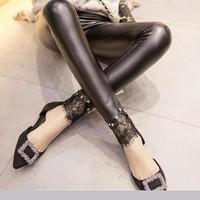 quần legging da ren