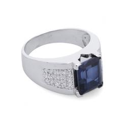 Nhẫn nam gắn đá Sapphire