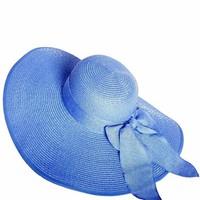 Mũ cói nón rộng vành đi biển thắt nơ