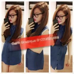 Đầm Jean Tay Viền Ren Kim Khả Oanh NA-D139
