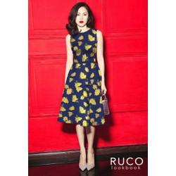 Đầm Xòe Hoa Vintage Cao Cấp
