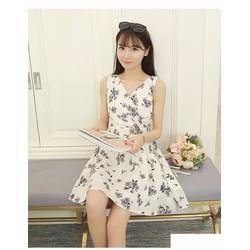 Đầm xòe họa tiết hoa nhí- thời trang