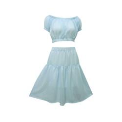 Set váy xòe áo crop top