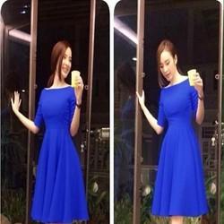 Đầm xòe dư tiệc thiết kế đơn giản xinh đẹp như Phương Trinh DXV264