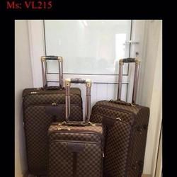 Vali kéo du lịch LV caro cao cấp sang trọng và đẳng cấp VL215