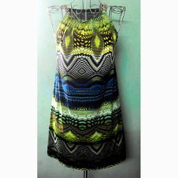 Đầm hoa văn thun lạnh
