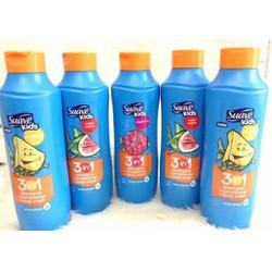Dầu gội + xả + tắm dành cho trẻ em Suave Kid 3 in 1