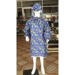 áo mưa bít Mickey xanh cho bé   áo mưa trẻ em BB.EB7.PN04