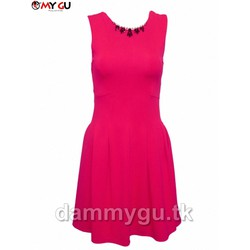 Đầm thanh lịch, dịu dàng MY GU D45 - Màu hồng