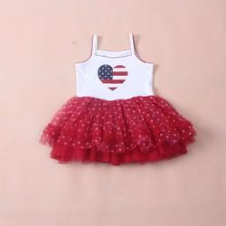 váy 2 dây bồng bềnh 3 lớp cho  công chúa đáng yêu