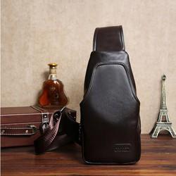 Túi da đeo chéo phong cách màu nâu DT_DC3