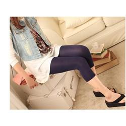 Quần legging lửng bà bầu,kiểu trơn,đơn giản-Q363