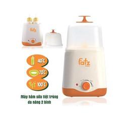 Máy tiệt trùng hâm sữa đa năng 2 bình Fatzbaby