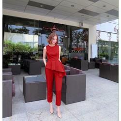 Set bộ áo vạt xéo phối quần baggy dài sành điệu SAD01