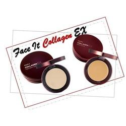 Phấn nén THE FACE SHOP Face It Collagen Ex Two Way Cake