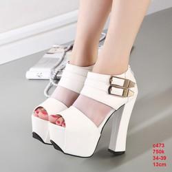 Giày gót đế vuông