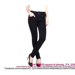Quần jean đen nữ 3 nút sành điệu và cá tính