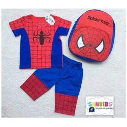Bộ thun người nhện kèm ba lô dễ thương cho bé NX461