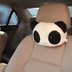 02 Gối tựa đầu ghế xe ô tô gấu trúc
