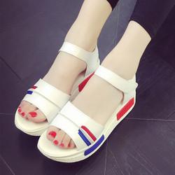 Giày Sandal nữ đế cao phối màu dễ thương kiểu dáng Hàn Quốc - XS0292
