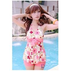 Đồ bơi short hoa cực xinh BK364K