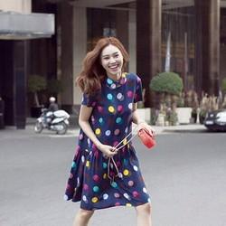 Đầm hoạ tiết chấm bi