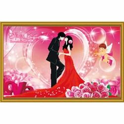 Tranh đính đá tình yêu - H293