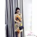 đầm suông tuyệt phẩm phối màu tôn dáng:bao chất đẹp