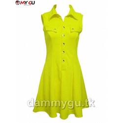 Đầm thời trang, cá tính MY GU D74 - Màu vàng chanh
