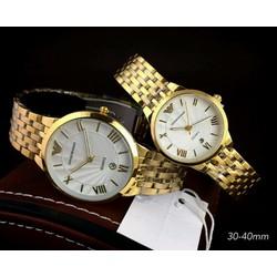 đồng hồ đôi cao cấp dây inox siêu mỏng cực đẹp chất lượng