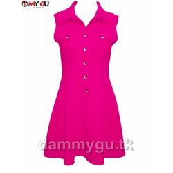 Đầm thời trang, cá tính MY GU D74 - Màu hồng