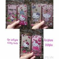 Ốp lưng iPhone 6-6s dẻo Kitty đính đá