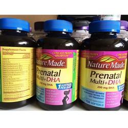 Thuốc bổ cho bà bầu Nature Made Prenatal multi DHA 150 viên