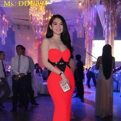 View  Đầm dạ hội cúp ngực màu đỏ sang trọng nổi bật